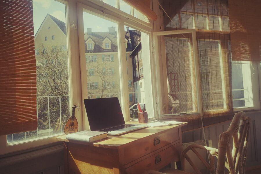 Christoph Linhers Schreibtisch in Nenzing